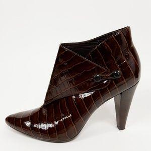 Via Spiga Lydia Reptile Print Ankle Boots